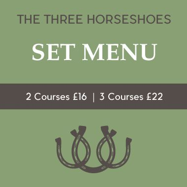 The Three Horseshoes - Set Menu