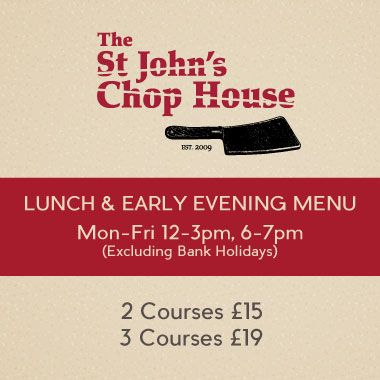 St John's Chop House Lunch & Early Evening Menu